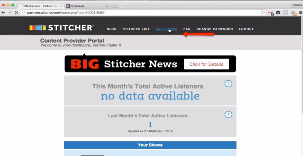 Stitcher 2